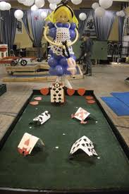 alice in wonderland putt putt golf hole designed by balloons by