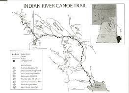 India River Map by Hannahville Learn And Serve Indian River Trail