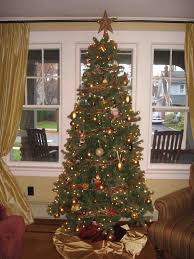 my boy kid colour gold and silver and blue christmas tree blind