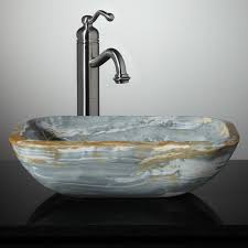 What Are Bathroom Sinks Made Of Eris Blue Onyx Vessel Sink Vessel Sinks Bathroom Sinks