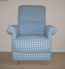 Gingham Armchair Laura Ashley Blue Chambray Gingham Fabric Chair Nursery Check