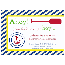 nautical boy baby shower invitations paperstyle