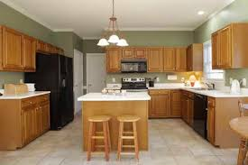 kitchen gorgeous oak kitchen cabinets and wall color best paint
