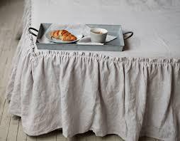 linen coverlet 12 colours linen bed skirt linen dust ruffle