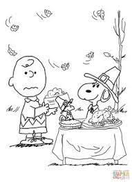 snoopy thanksgiving coloring picture for snoopy