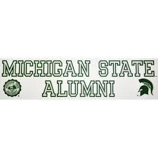 alumni decal michigan state apparel michigan state clothing msu