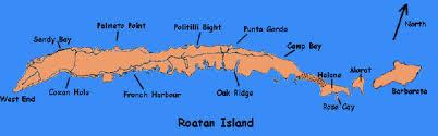 map of roatan honduras honduras maps and locator maps for roatan island