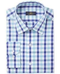 club room men u0027s classic fit wrinkle resistant mint blue gingham