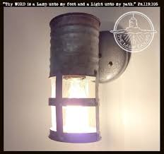 Galvanized Wall Sconce Galvanized Farm Wall Sconce Lighting Fixture With Edison Bulb