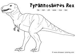 tryannosaurus t rex coloring page to print coloring pages