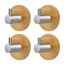 adhesive wall hooks bamboo stainless steel adhesive wall hooks 4pc turtle leaf