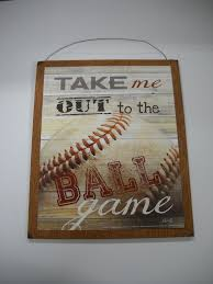 amazon com take me out to the ball game baseball sports wall art