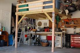 building a loft in garage diy garage storage loft plans useful for your home design ideas