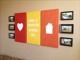beautiful heart picture on red frame side home picture on orange
