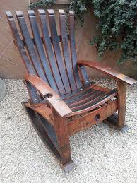 Whiskey Barrel Chairs Wine Barrel Rocker With Built In Wine Glass Holder Wine Barrel