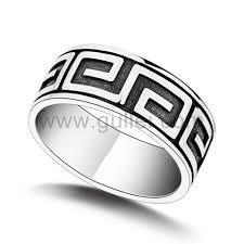 fashion mens rings images Engraved antique retro sterling silver fashion mens ring jpg