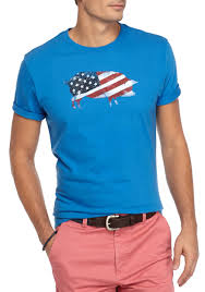 American Flag Price Crown U0026 Ivy Short Sleeve American Flag Graphic Tee Jersey Blue
