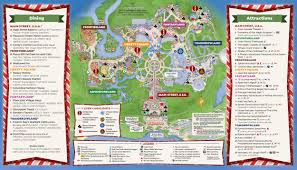Orlando Parks Map by Mickey U0027s Very Merry Christmas Party Map 2016 Walt Disney World
