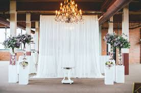 wedding backdrop altar and rustic cleveland wedding