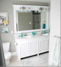 Large Framed Bathroom Mirror Remodelaholic Framing A Large Bathroom Mirror
