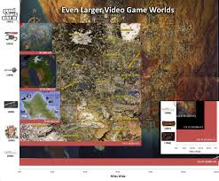 Skyrim World Map by A Relative Size Comparison Of Game World Maps Fascinating