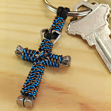 3d twist nail cross keychain free shipping made in usa