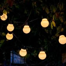 Garden Lights Aurgalow White Solar Festoon Garden Lights