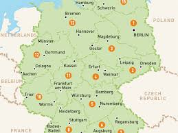 Wittenberg Germany Map by Download Map Of Grmany Major Tourist Attractions Maps