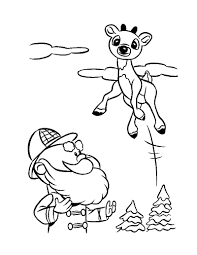 santa and reindeer coloring pages hellokids com