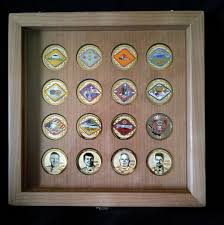3x5 Flag Display Case With Certificate Mounted Challenge Coins By Greg Seitz Woodworking