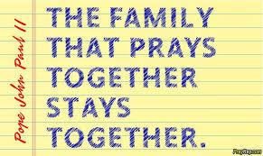 family prayer morning evening thanksgiving food blessing