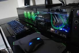Computer In Desk Watercooled Pc Desk Mod Modded Fry S L Shaped Desk