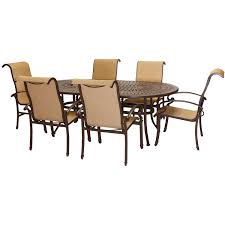 Dining Patio Set - amazon com hanover kerrington7pc kerrington 7 piece outdoor