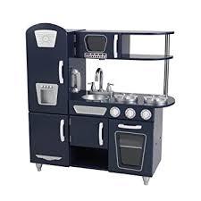 cuisine kidkraft vintage kidkraft 53296 navy vintage kitchen amazon co uk baby