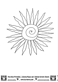 printable sun coloring pages coloring