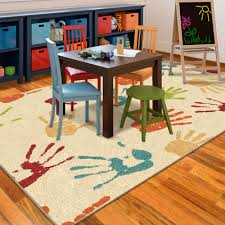 Playroom Area Rugs Orian Handprints Area Rug Walmart
