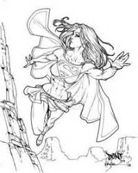 pin damien stanley supergirl coloring pages