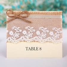 Laser Cut Table Numbers Lace And Burlap Wedding Place Cards Table Numbers Ewpc009 As Low