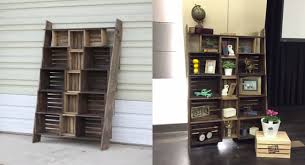 Tiered Bookshelves by Learn How To Turn Old Wooden Crates Into Cool New Furniture