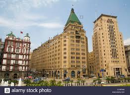 shanghai the bund peace hotel china stock photo royalty free