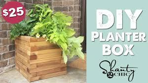 Homemade Planter Boxes by Diy Cedar Planter Box Shanty2chic Youtube