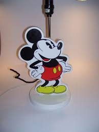 Mickey Mouse Table by Vintage Walt Disney Mickey Mouse Nursery Lamp Mickey Mouse Table