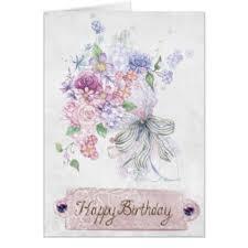 Sketch Birthday Card Flower Sketch Greeting Cards Zazzle