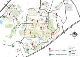 Florida State University Campus Map by On Campus Bike Share Arrives At Unc Charlotte Plancharlotte Org