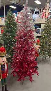 tinsel ombre 7 ft ruby silver artificial tree 350