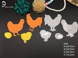 hen chicken egg family diy cutting dies metal stencils for