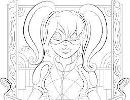 superhero coloring page free printable super hero high for dc
