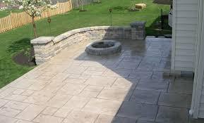 Concrete Patio Pavers Custom Concrete Plus Embossed Concrete Patio Concrete Paver Walls