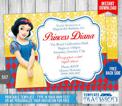 princess birthday invitations template free disney free