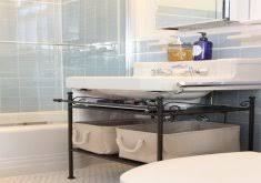 under sink storage bathroom home inspiration ideas